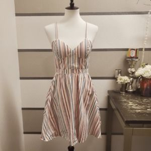 Guess Vintage Red/White/Blue Striped Dress